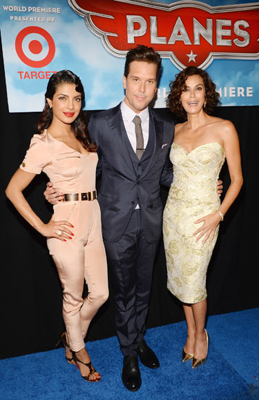 Priyanka Chopra with Teri Hatcher and Dane Cook