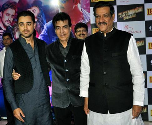 Imran Khan, Jeetendra and Prithviraj Chavan