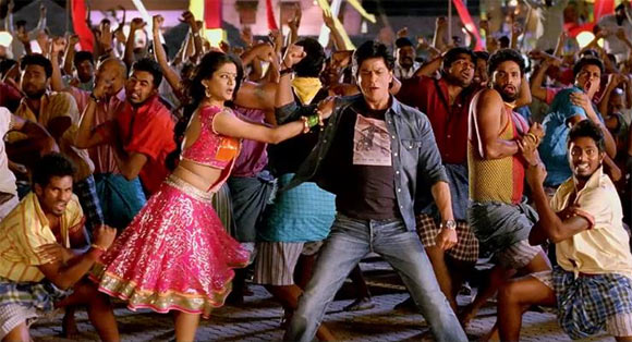 Priyamani and Shah Rukh Khan in Chennai Express