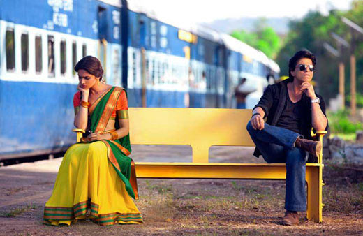 Deepika Padukone and Shah Rukh Khan in Chennai Express