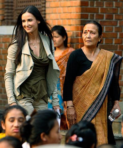Demi Moore and Anuradha Koirala