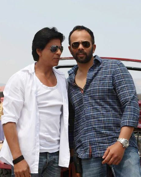 Shah Rukh Khan and Rohit Shetty