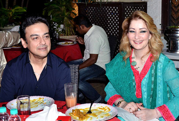 Adnan Sami with wife Roya Faryabi