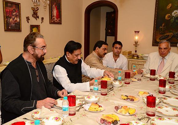 Kabir Bedi, Prithviraj Chavan, Mohammed Arif Nasim Khan and Waahiid Ali Khan