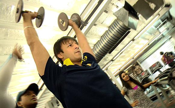 Vivek Oberoi at the gym
