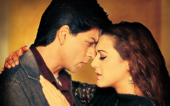Shah Rukh Khan and Preity Zinta in Veer Zaara