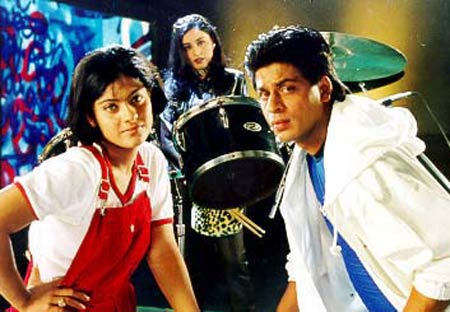 Kajol and Shah Rukh Khan in Kuch Kuch Hota Hai