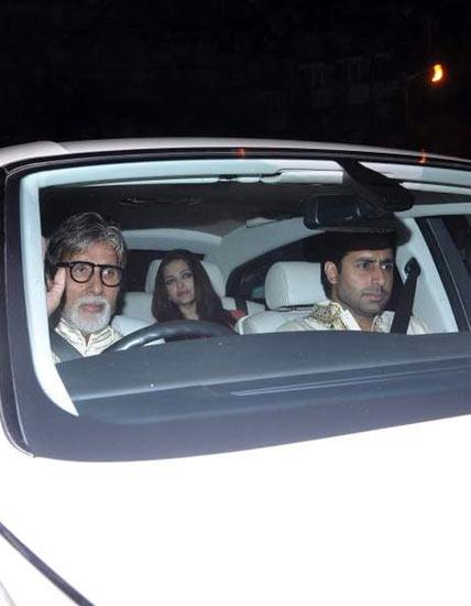 Amitabh, Aishwarya Rai and Abhishek Bachchan