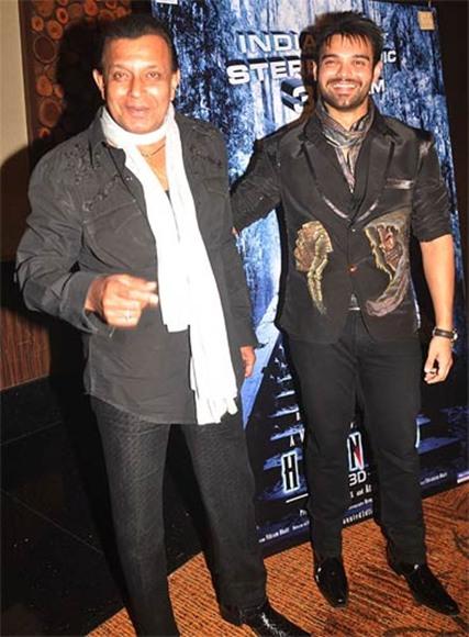 Mithun Chakraborti with son Mahaakshay
