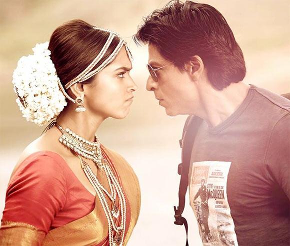 Deepika Padukone and Shah Rukh Khan in Chennai Express