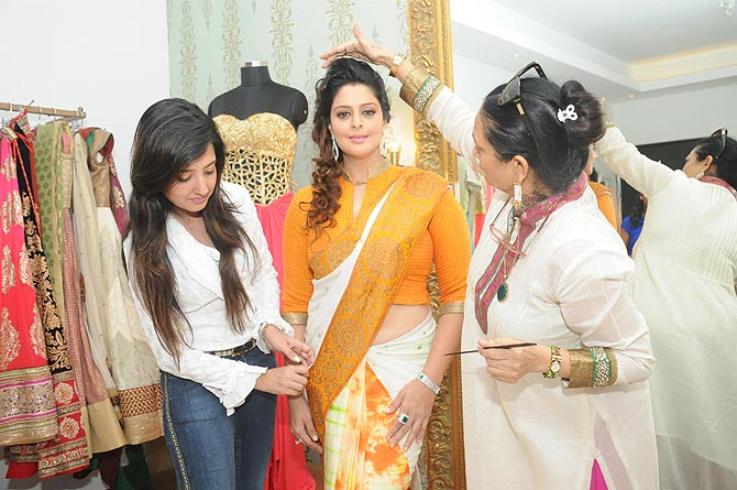 Nagma with Amy Billimoria (left)