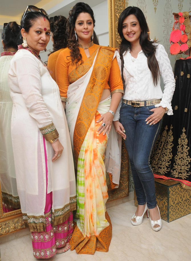 Nagma with Amy Billimoria (right)