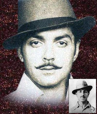 Bobby Deol as Shaheed Bhagat Singh. Inset: Bhagat Singh