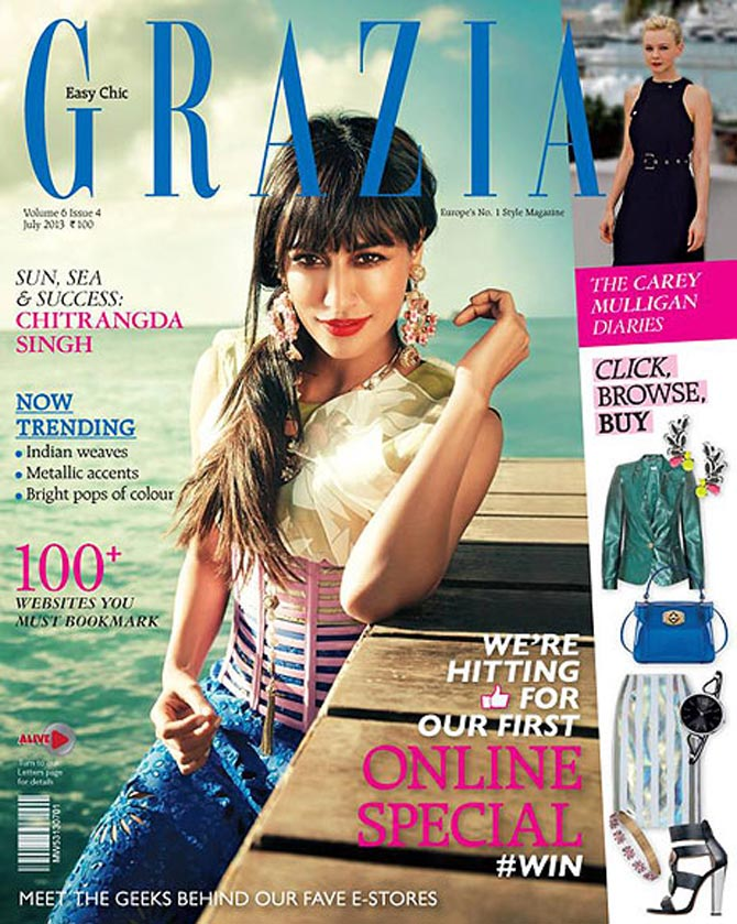Chitrangda Singh on Grazia magazine
