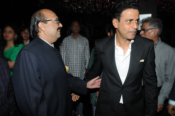 Amar Singh and Manoj Bajpayee