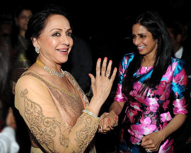 Sridevi and Hema Malini
