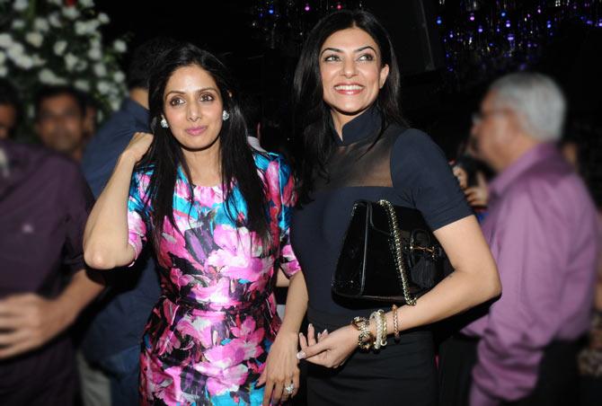 Sridevi and Sushmita Sen