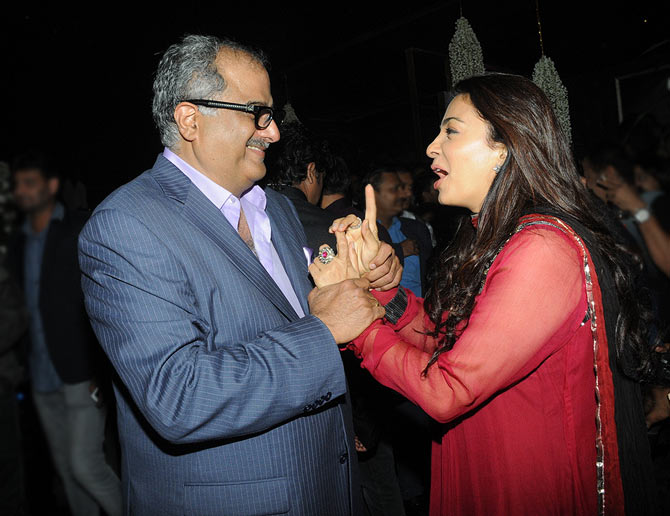 Juhi Chawla and Boney Kapoor