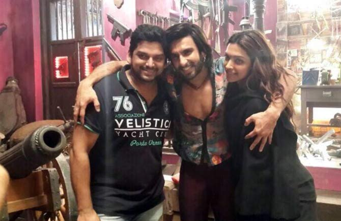Vishnudeva, Ranveer Singh and Deepika Padukone