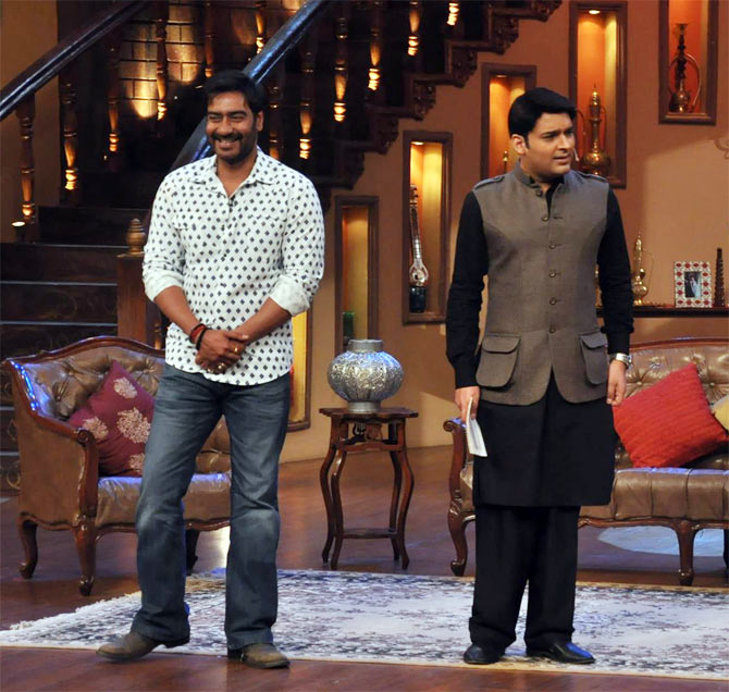 Ajay Devgn with Kapil Sharma