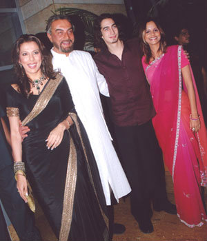 Pooja, Kabir and Adam Bedi with  Nisha Harale