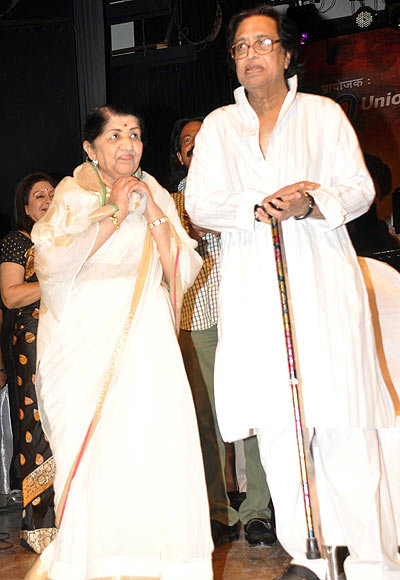 Lata and Hridaynath Mangeshkar