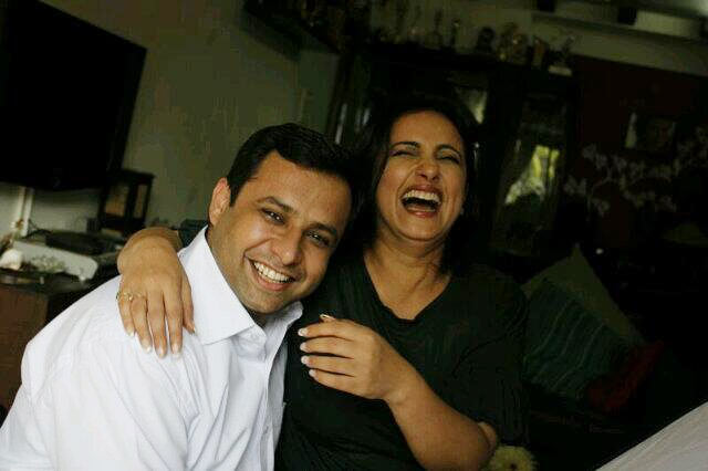 Divya Dutta with her brother