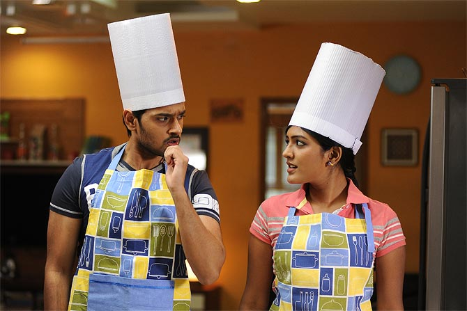 Sumanth Ashwin and Esha in Anthaka Mundhu...Aa tharuvatha. Inset: Director Indraganti Mohanakrishna