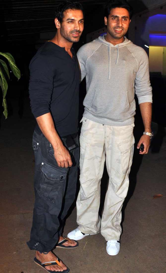 John Abraham and Abhishek Bachchan