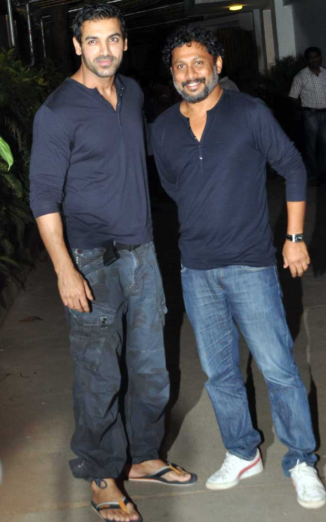 Shoojit Sircar with John Abraham
