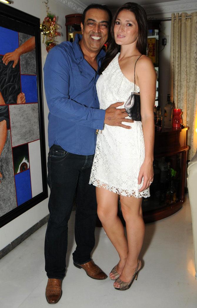 Vindoo Dara Singh and Dina Umarova