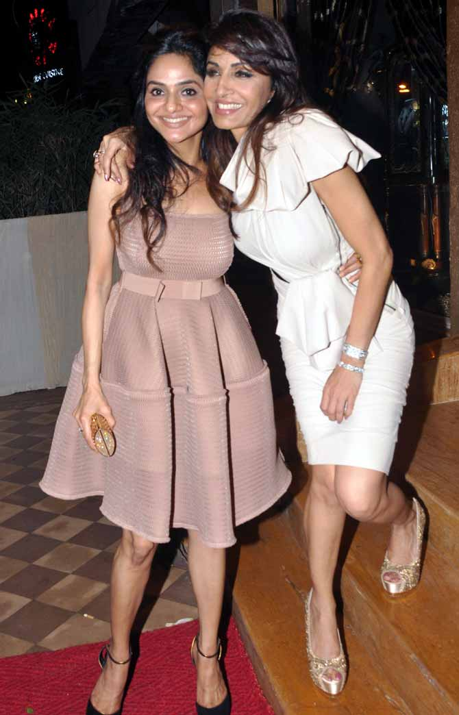 Madhoo and Queenie Singh