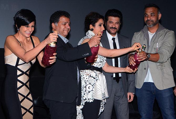 Mandira Bedi, Raj Nayak CEO of COLORS, Tisca Chopra, Anil Kapoor, Abhinay Deo