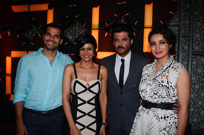 Neil Bhoopalam, Mandira Bedi, Anil Kapoor and Tisca Chopra