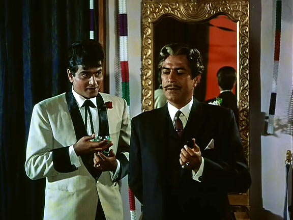 Jeetendra and Sajjan in Farz