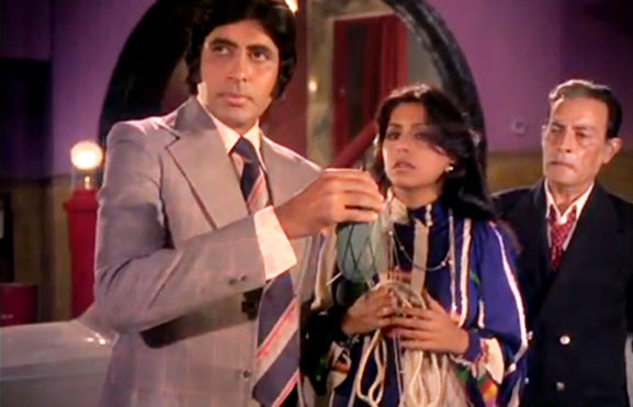 Amitabh Bachchan, Reena Roy, Iftekar in The Great Gambler