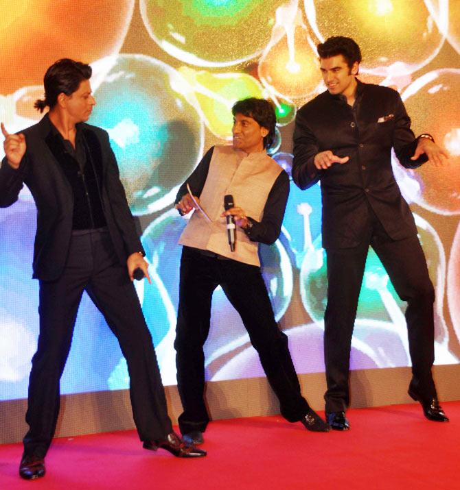 Shah Rukh, Raju Srivastava and Nikitan Dheer