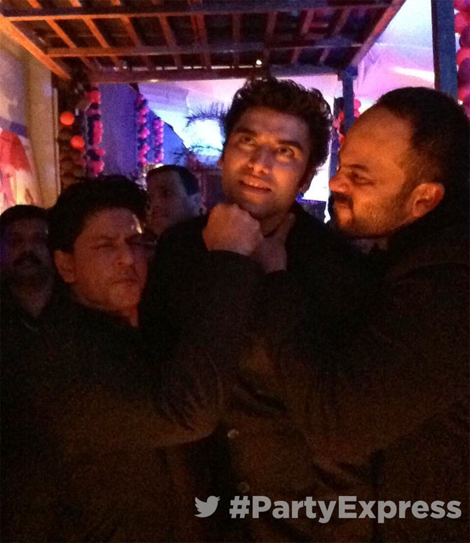 Shah Rukh Khan, Nikitan Dheer and Rohit Shetty
