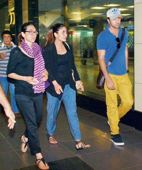 Karisma, Kareena and Ranbir Kapoor