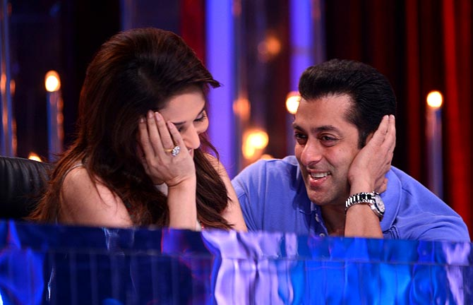 Madhuri Dixit and Salman Khan