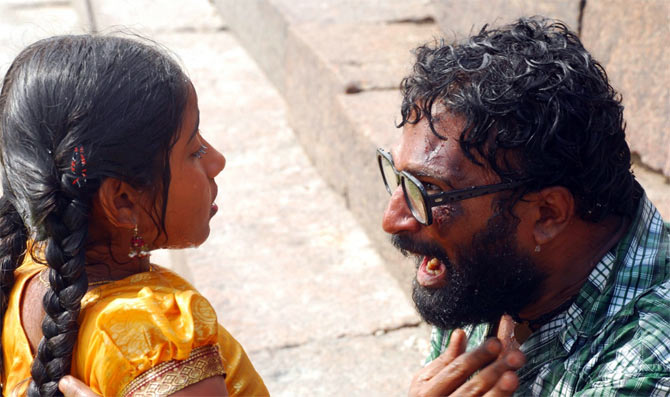 A scene from Thanga Meengal