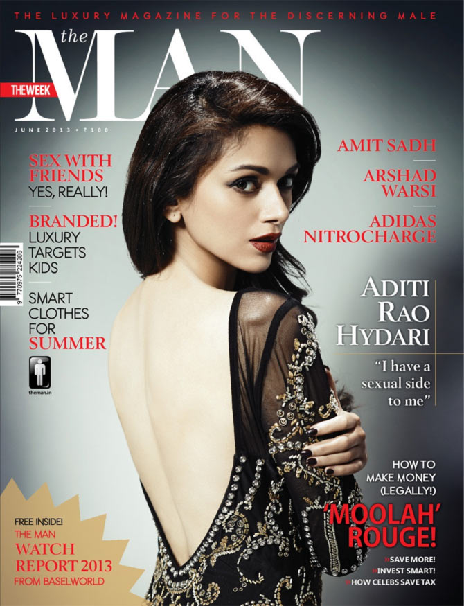 Aditi Rao Hydari on a The Man cover