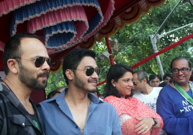 Rohit Shetty and Priya Dutt