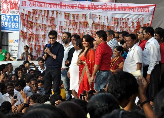 Jeetendra and Mahima Chaudhary