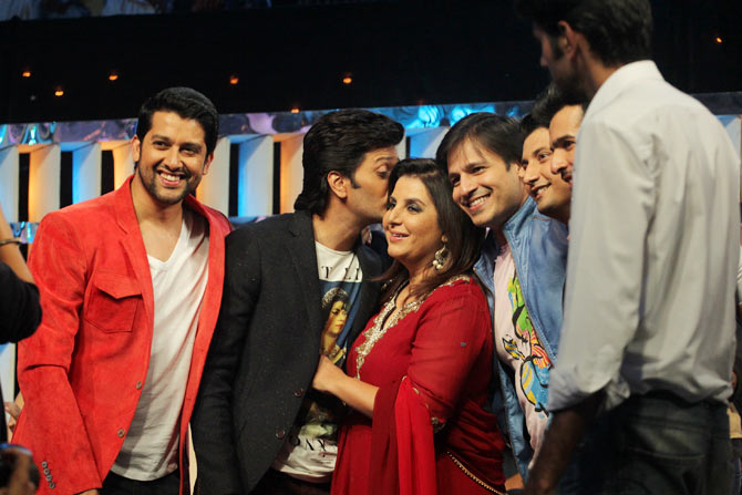 Aftab Shivdasani, Riteish Deshmukh, Farah Khan, Vivek Oberoi, Marzi Pestonji and Jay Bhanusali