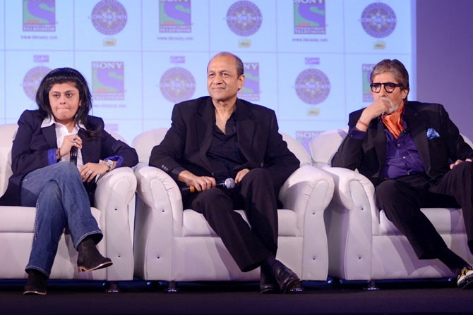 Sneha Rajani, Senior Executive Vice President and Business Head of SONY TV, Siddharth Basu, producer and Director of KBC and Amitabh Bachchan