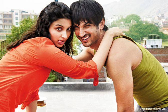 Parineeti Chopra and Sushant Singh in Shuddh Desi Romance