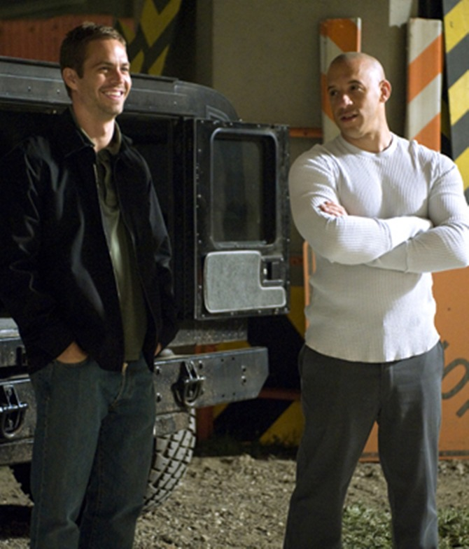 Paul Walker and Vin Diesel in Fast And Furious