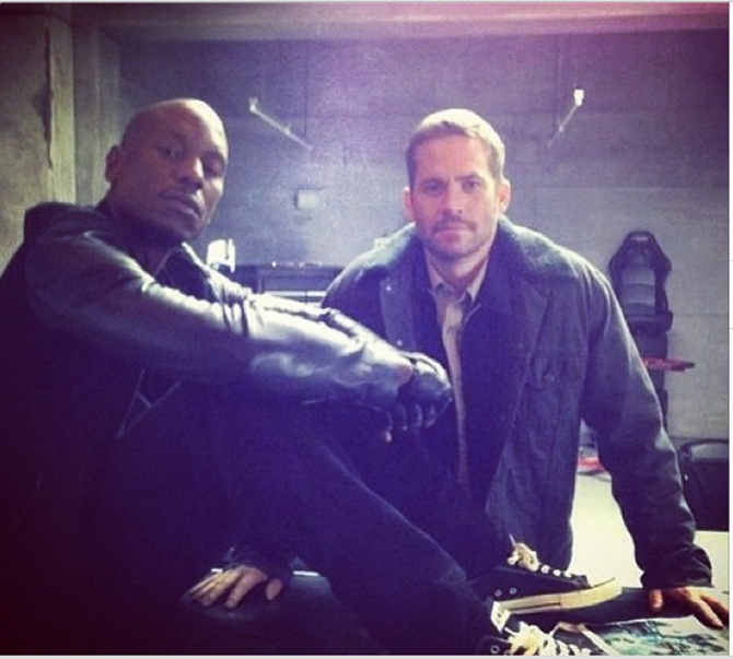 Tyrese and Paul Walker