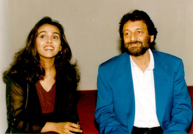 Suchitra Krishnamoorthi and her then husband Shekhar Kapoor.